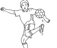 Coloriage football en ligne gatuit dessins football - Coloriage footballeur ...